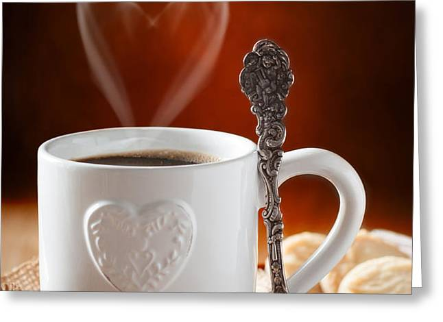 Valentine's Day Coffee Greeting Card by Amanda And Christopher Elwell