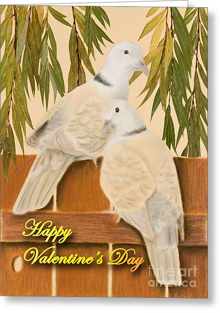 Animals Love Greeting Cards - Valentines Day Doves Greeting Card by Jeanette K
