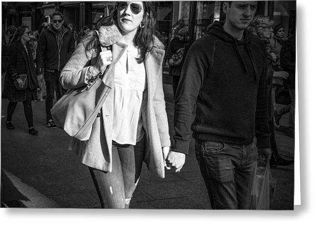 Streetphotography Greeting Cards - Valentines day Greeting Card by Giuseppe Milo
