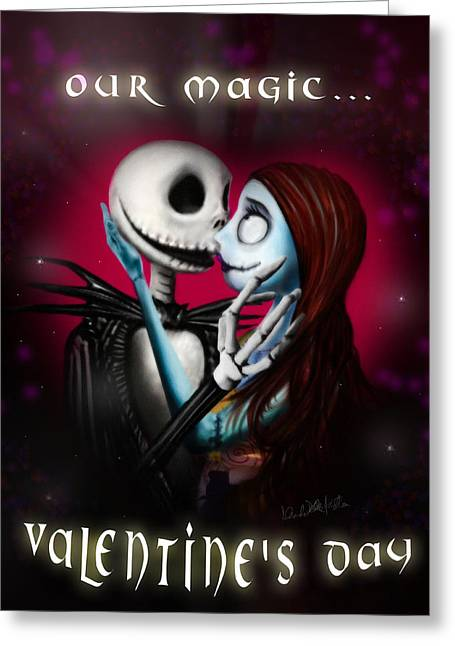 Valentine's Day Greeting Card Greeting Card by Alessandro Della Pietra