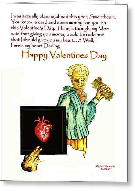 Parents Greeting Cards - Valentines Day Heart Card Greeting Card by Michael Shone SR