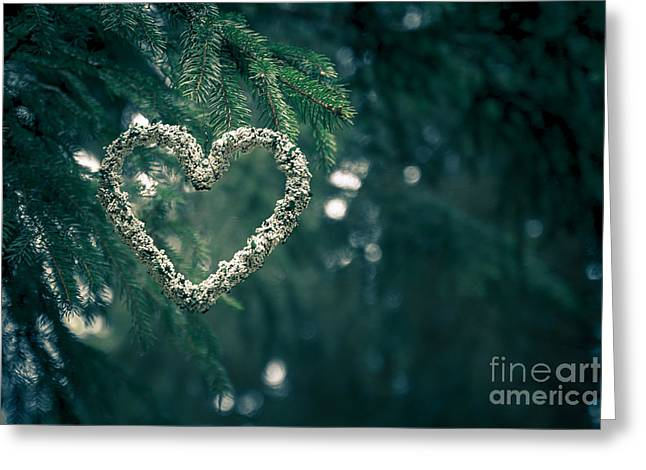Wandern Greeting Cards - Valentines Day in nature Greeting Card by Andreas Levi