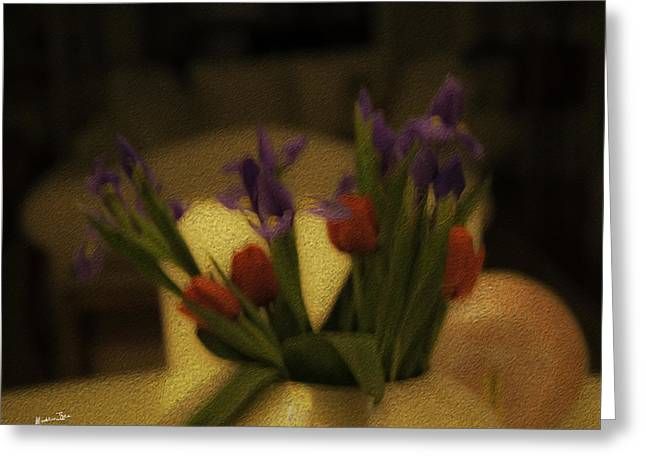 Vase Of Flowers Greeting Cards - Valentines - The Day After Greeting Card by Madeline Ellis