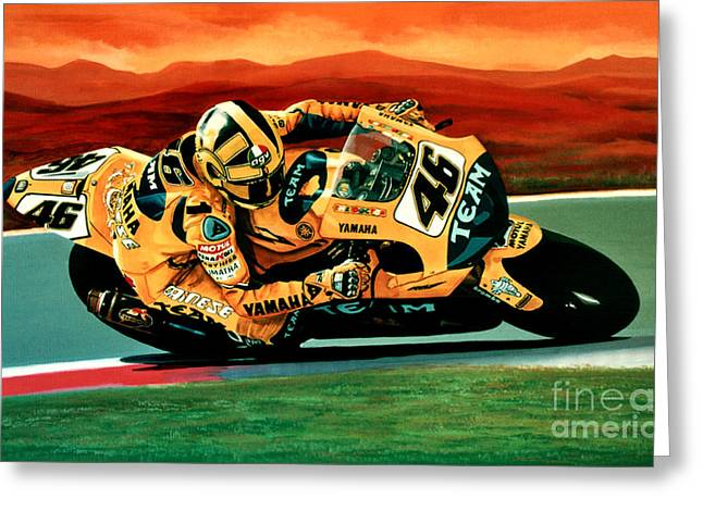 Yamaha Greeting Cards - Valentino Rossi The Doctor Greeting Card by Paul Meijering