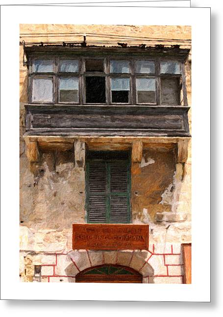 Best Seller Pastels Greeting Cards - Valetta windows Greeting Card by Jon Delorme