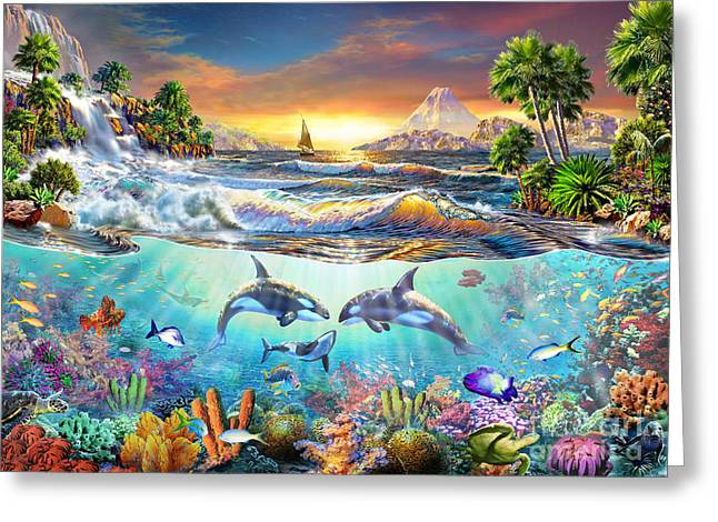 Sealife Greeting Cards - Valhala Dawn Greeting Card by Adrian Chesterman