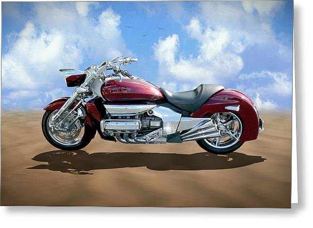 Honda Motorcycles Greeting Cards - Valkyrie Rune Greeting Card by Mike McGlothlen
