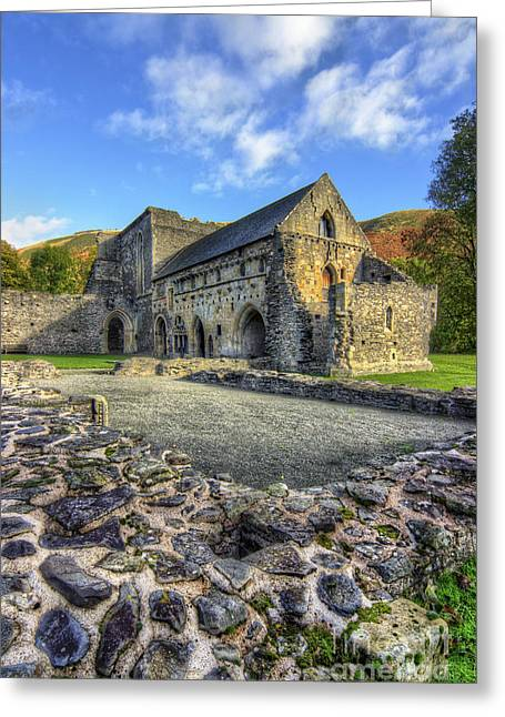 Valle Crucis Greeting Cards - Valle Crucis Abbey v3 Greeting Card by Ian Mitchell