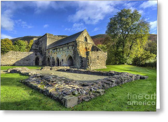 Valle Crucis Greeting Cards - Valle Crucis Abbey v4 Greeting Card by Ian Mitchell