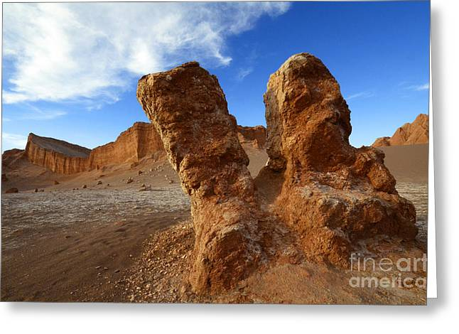 Luna Greeting Cards - Valle de la Luna Chile 1 Greeting Card by Bob Christopher