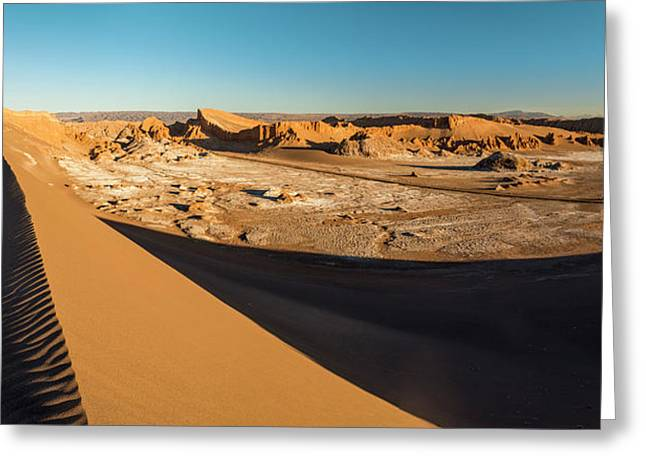 Valle De La Luna From Sans Dunes Greeting Card by Panoramic Images