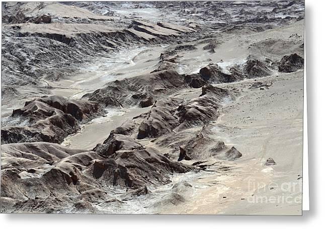 La Luna Greeting Cards - Valle de la Morte Chile 2 Greeting Card by Bob Christopher
