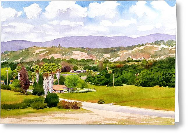 California Agriculture Greeting Cards - Valley Center California Greeting Card by Mary Helmreich