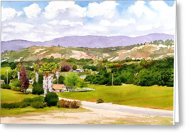 Valley Center California Greeting Card by Mary Helmreich