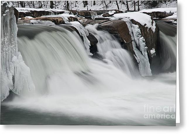 Stream Greeting Cards - Valley Falls D30009145 Greeting Card by Kevin Funk
