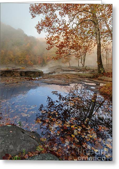 Waterfalls Greeting Cards - Valley Falls D30018827 Greeting Card by Kevin Funk