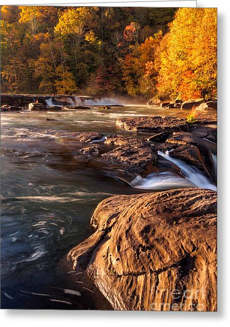 Stream Greeting Cards - Valley Falls D30018862 Greeting Card by Kevin Funk