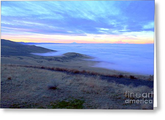 Yakima Valley Greeting Cards - Valley Fog Greeting Card by Carol Groenen