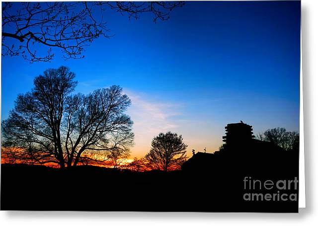 Valley Forge Greeting Cards - Valley Forge Evening  Greeting Card by Olivier Le Queinec