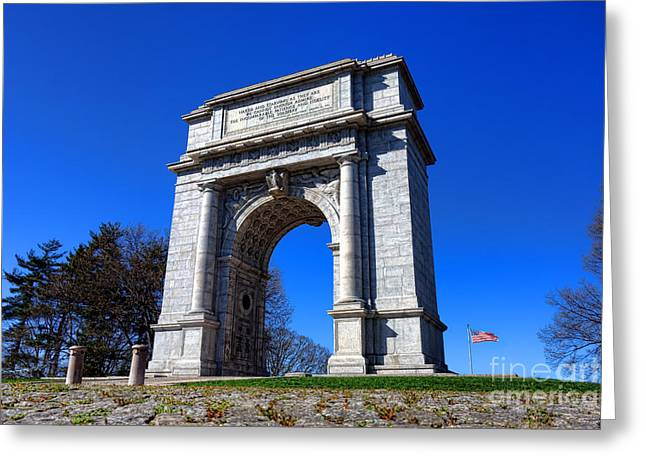 National Memorial Greeting Cards - Valley Forge Glory Greeting Card by Olivier Le Queinec