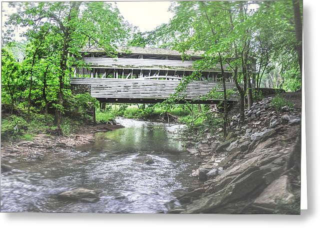 Knox Covered Bridge - Valley Forge Greeting Cards - Valley Forge - Knox Covered Bridge Greeting Card by Bill Cannon