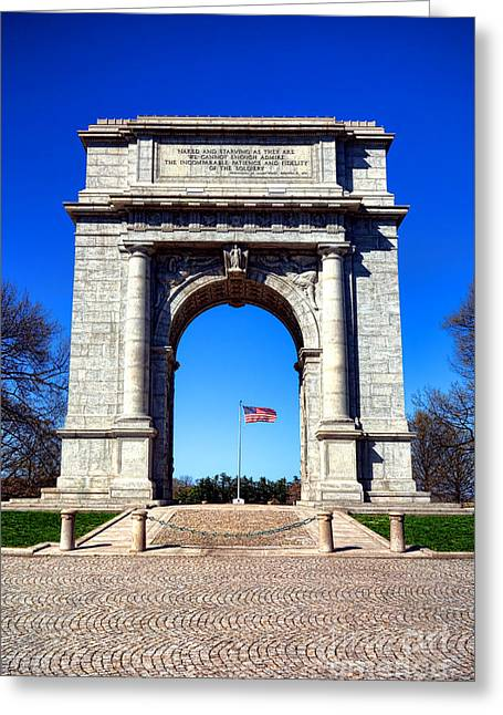 National Memorial Greeting Cards - Valley Forge Landmark Greeting Card by Olivier Le Queinec