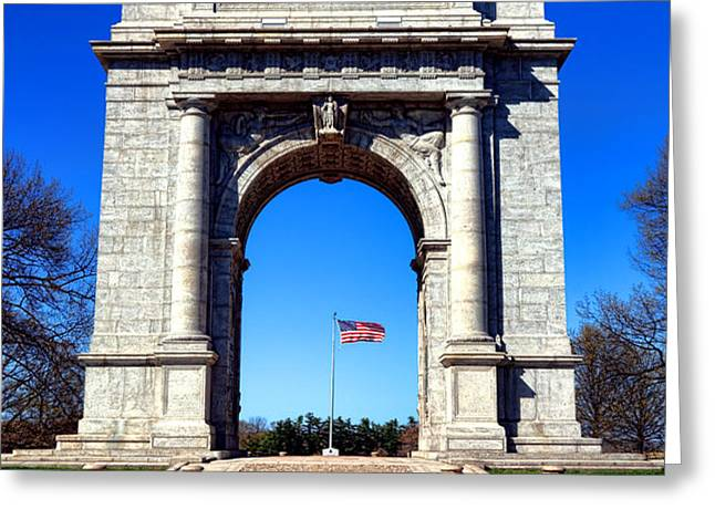 Valley Forge Landmark Greeting Card by Olivier Le Queinec