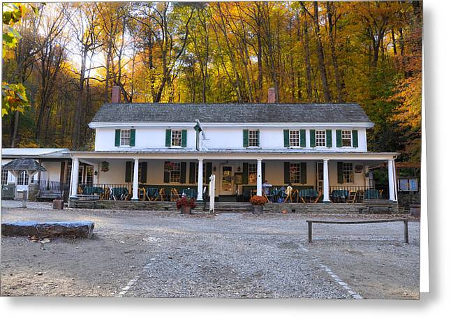 Valley Green Greeting Cards - Valley Green Inn - Forbidden Drive Greeting Card by Bill Cannon