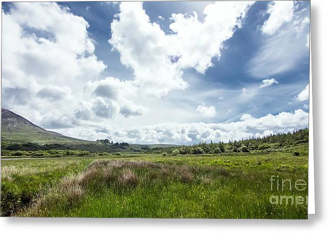 Vale Greeting Cards - Valley in irish mountains Greeting Card by Daniel Heine