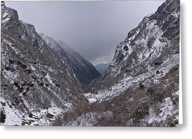 Mountain Greeting Cards - Valley, Modi Khola Valley, Annapurna Greeting Card by Panoramic Images