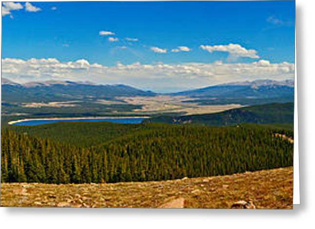 Mt. Massive Greeting Cards - Valley of 14ers Panorama Greeting Card by Jeremy Rhoades