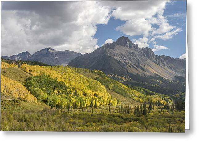 Colorado Artwork Greeting Cards - Valley of Autumn Greeting Card by Jon Glaser