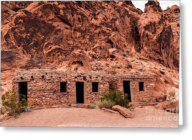 Shale Greeting Cards - Valley of Fire Cabin Greeting Card by Robert Bales