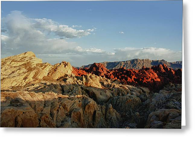 The Hills Greeting Cards - Valley of Fire Greeting Card by Linda Dunn