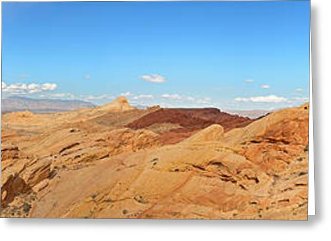 Valley Of Fire Pano Greeting Card by Jane Rix