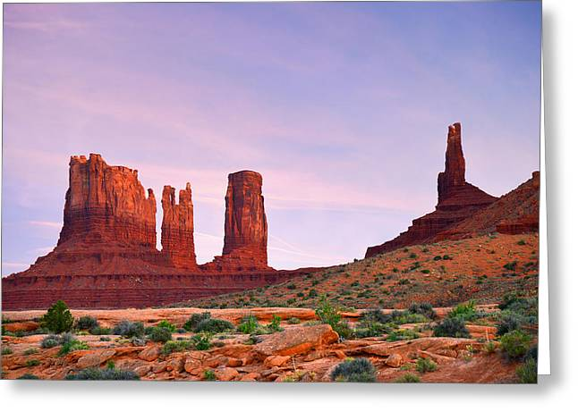 Weathered Greeting Cards - Valley of the Gods - A oasis for the soul Greeting Card by Christine Till