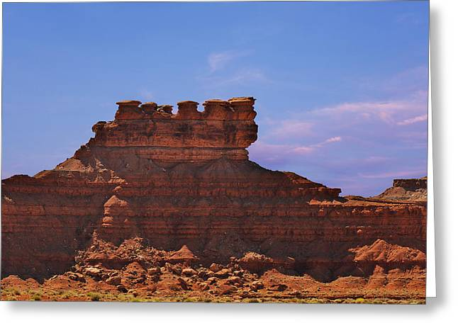 Valley Of The Gods Greeting Card by Christine Till