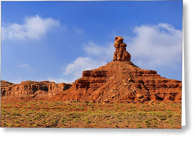 Surreal Landscape Greeting Cards - Valley of the Gods Utah Greeting Card by Christine Till