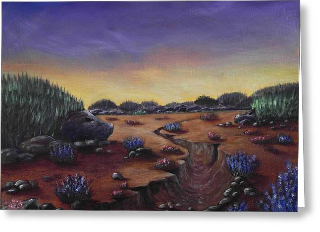 Valley Girl Greeting Cards - Valley of the Hedgehogs Greeting Card by Anastasiya Malakhova