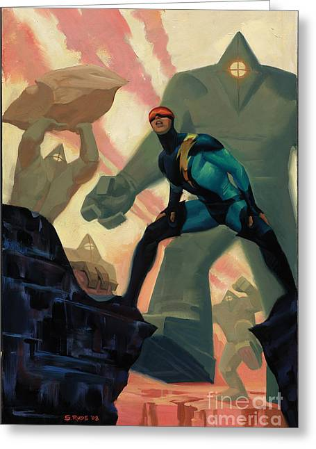 Nexus Greeting Cards - Valley of the Living Rocks Greeting Card by Steve Rude