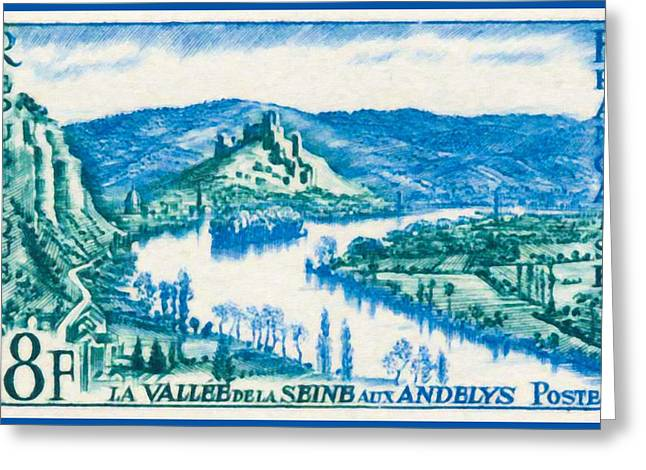 Eure Greeting Cards - Valley Of The Seine Andelys Greeting Card by Lanjee Chee