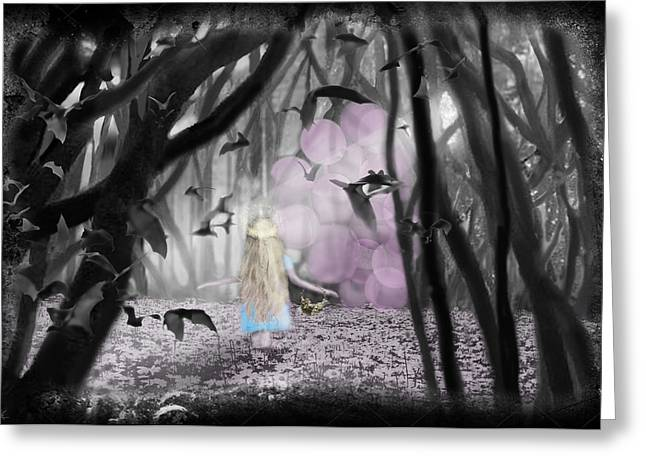 Balloon Flower Digital Art Greeting Cards - Valley Of The Shadow... Greeting Card by Larry Rice