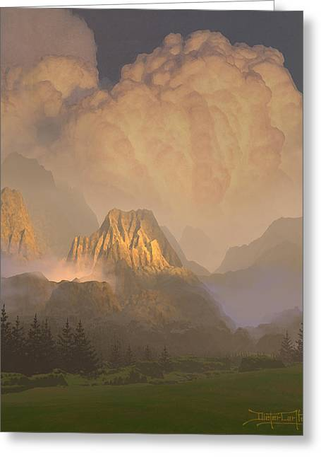 Valley Of The Shadow Of Life Greeting Card by Dieter Carlton