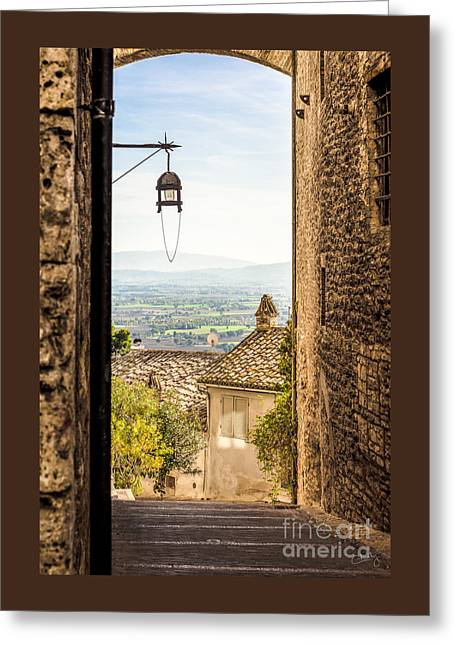 Valley Outside Assisi Greeting Card by Prints of Italy