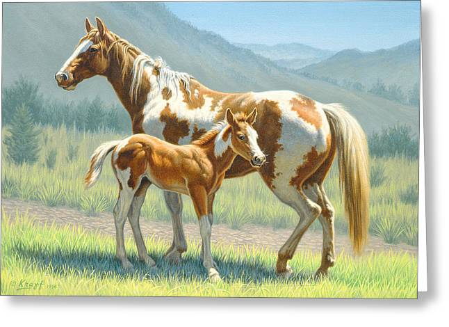 Colts Greeting Cards - Valley Paints Greeting Card by Paul Krapf