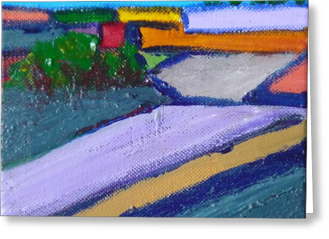 Pastureland Paintings Greeting Cards - Valley Pasture Greeting Card by Kimberly Maxwell Grantier