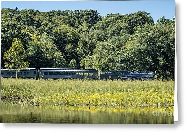 Deep River Greeting Cards - Valley Railroad Pratt Cove Greeting Card by Edward Fielding