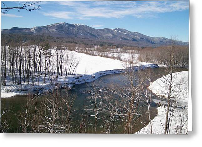 New Hampshire Greeting Cards - Valley River Greeting Card by Elizabeth Joslin