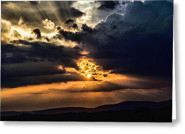 Jahred Allen Photography Greeting Cards - Valley Sky Greeting Card by Jahred Allen