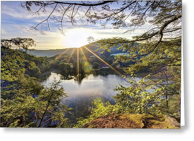 Litchfield County Greeting Cards - Valley Sunrise Greeting Card by Bill  Wakeley